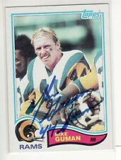 MIKE GUMAN LOS ANGELES RAMS 1982 TOPPS #376  AUTOGRAPHED CARD