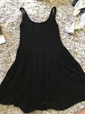 Brandy Melville Soft Black Jessa Babydoll Dress Urban Outfitters Topshop