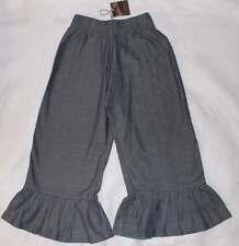 NWT Matilda Jane You & Me Baby Herringbone Blue Chambray Ruffles Pants 8 Yrs