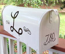Hand Painted Mailbox FREE SHIPPING (Your) Personalized Monogram Post Mount