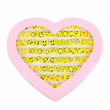 Kids 72pc Costume Earring Set In Heart Display Case -  Smiley Emoji Smiles