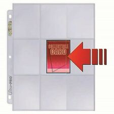1 Box of 100 Ultra Pro Platinum 9 Pocket Pages Side Loading Card Storage