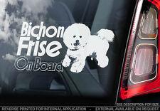 Bichon Frise - Car Window Sticker - Dog Sign -V02
