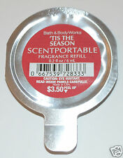 NEW BATH & BODY WORKS TIS THE SEASON SCENTPORTABLE FRAGRANCE REFILL DISC UNIT