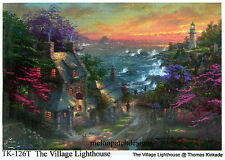 Thomas Kinkade TK-126T THE VILLAGE LIGHTHOUSE Foam Cling Mount Rubber Stamp
