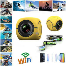 1080P HD Bike Motorcycle Helmet Sports Mini Action Camera Video Camcorder Fuc