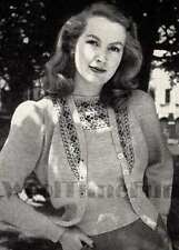 Vintage Knitting Pattern Lady's 1940s Fair Isle Twin Set/Cardigan/Sweater.
