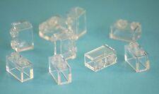 9x Lego® 3065 Steine Bausteine 1x2 transparent Bricks Pieces Parts trans clear