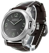 Panerai PAM00562 Luminor Base 8 Days Titanio 44MM Men Brown Leather Watch