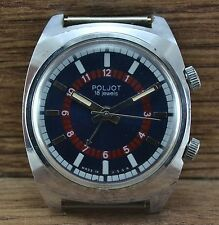 Men`s Vintage USSR SOVIET Russian mechanical watch POLJOT ALARM VIBRATES 2612.1