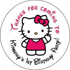 24 1.67 Inch Stickers party Personalized round sealers Birthday hello kitty