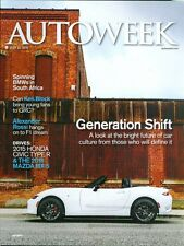2015 Autoweek Magazine: Generation Shift- Future of Cars/BMWs in South Africa