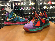"NIKE LEBRON 10 X ""WHAT THE MVP"" PREMIUM Guaranteed Authentic DS Size 10 B stamp"