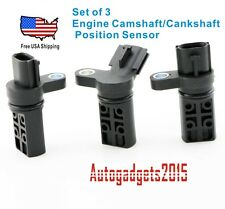 NEW Set 3 Camshaft / Crankshaft Position Sensor Fits: Infiniti & Nissan