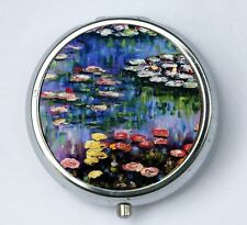 Water Lilies Pill case pillbox box holder fine art painting Claude Monet