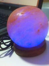 Lámpara De Sal. USB.  Esfera. para conectar a la red o al ordenador