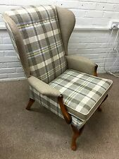 Newly reupholstered Parker Knoll Wing back chair model 918