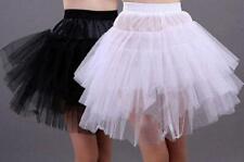 Women's short Wedding Bridal Petticoat Crinoline Underskirt Skirt Black/White