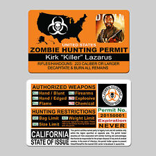 Custom Zombie Hunting Permit ID CARD outbreak response team - WITH YOUR INFO!