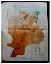 1927 John Ball  LIBYAN DESERT  Pottery Hill  QATTARA  Photos  COLOR MAP -7-8-9