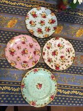 "FOUR (4) ASSORTED 2002 ROYAL ALBERT OLD COUNTRY ROSES 8 1/8"" DESSERT PLATES"