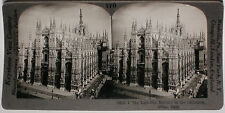 Keystone Stereoview The Cathedral of Milan, ITALY from the 1920's 400 Card Set
