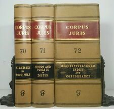 1935~1st ed.~CORPUS JURIS~Tall Antique 3 LAW BOOK Lot~RARE Old Decorative Set