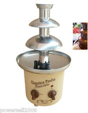 Chocolate Machine 39cm Height 3-Tier Stainless Steel Chocolate Fondue Fountain