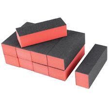 10 x Black Red Nail Polisher 4 Way Buffer Buffing Block Manicure File