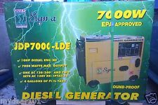 Portable Diesel Generator For Sale 7kw 50Hz/60Hz 110/240V ATS PWR BREAKER 30AMP