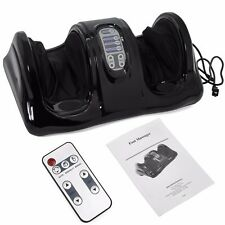 Shiatsu Foot Massager Kneading and Rolling Leg Calf Ankle Remote Black