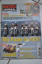 MOTO JOURNAL N°1378 YAMAHA FZS 600 FAZER HONDA CB HORNET DUCATI MONSTER DARK '99