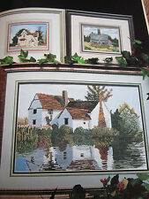 English Country Cottages Cross Stitch Patterns Vintage 1990's 6 Designs LOOK!