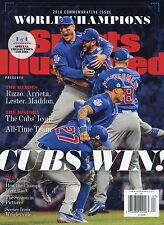CHICAGO CUBS WORLD SERIES CHAMPIONS SPORTS ILLUSTRATED COMMEMORATIVE MAGAZINE