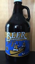 Portsmouth Brewery, Portsmouth, NH, 64 Oz Glass Growler Beer Jug Bottle Empty