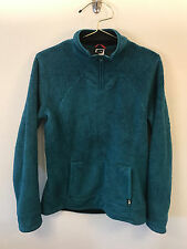 THE NORTH FACE 1/4 ZIP PULLOVER FLEECE WOMEN'S MEDIUM TEAL GUC FREE SHIPPING
