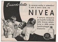 Pubblicità 1939 CREMA NIVEA SOAP WOMAN advertising werbung reklame publicitè