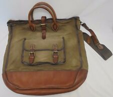 Ralph Lauren RRL Vintage Heavy Canvas & Leather Messenger Rusty, Patina
