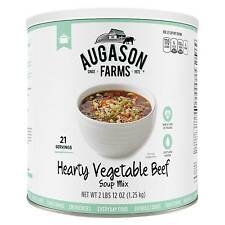Augason Farms Emergency Food Hearty Vegetable Beef Soup Mix 44 oz