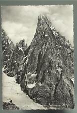 cartolina di courmayeur aiguille noire de peuterey 1954 spedita