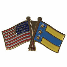 Alpha Tau Omega ATO Flag and USA Flag Lapel Pin