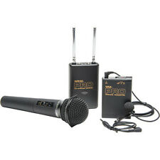 Pro WLHM DC wireless lavalier + handheld microphone for Canon 7D Mark II T3 T3i