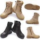 New Mens Military Army Tactical Combat Boots Sport Hiking Hunting Leather Shoes