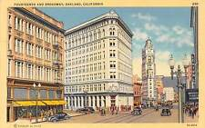USA Fourteenth and Broadway, Oakland California Vintage Cars Hotel Central