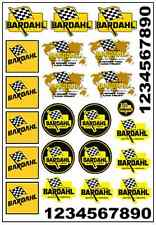 1/64, 1/87 - DECALS FOR HOT WHEELS, MATCHBOX, SLOT CAR: FAMOUS OIL RACE BRAND