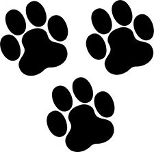 18 Paw Prints 100mm Dog Cat Black Wall Stickers Hallway Living Room Bedroom Car