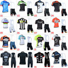 New Hipster Mens Team Bike Cycling Short Sleeve Jersey Bib Shorts Kits Outfits