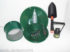M14 Green Mini Gold Classifier Screen & Gold Pan Panning Kit
