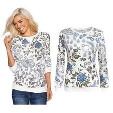 Fashion Womens Printed Long Sleeve Tops Cotton Casual Blouse Shirt Tops XL