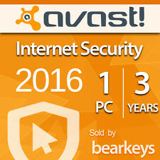 Avast Internet Security 2015/2016 - [1 PC] [3 Jahre] - VOLLVERSION - License ESD